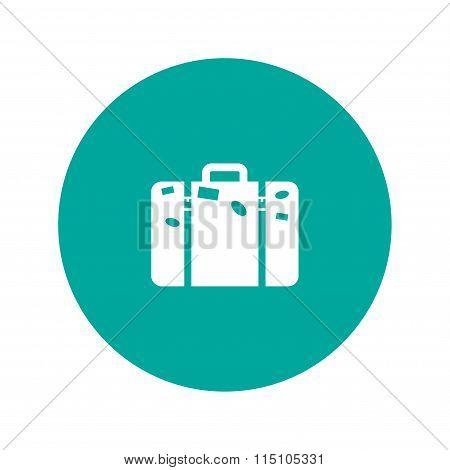 Bag Icon. Flat Design Style.