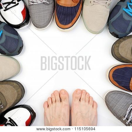 Bare Feet On White