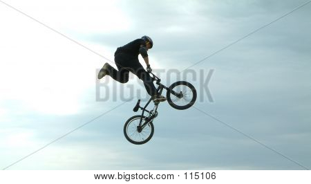 A Big Trick On A Bike