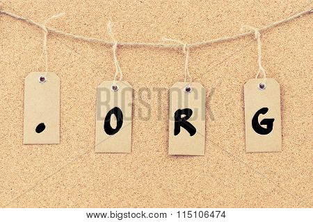 Vintage Grunge Tags With Word .org