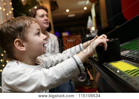 Child Playing Shooting Game