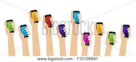 Hands Smartphone
