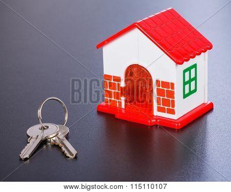 Miniature House And Keys