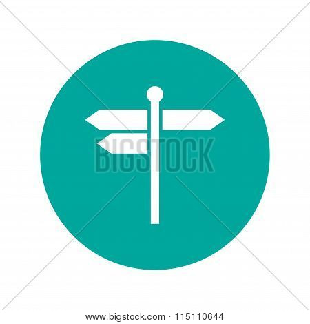 Signpost Icon. Flat Design Style.