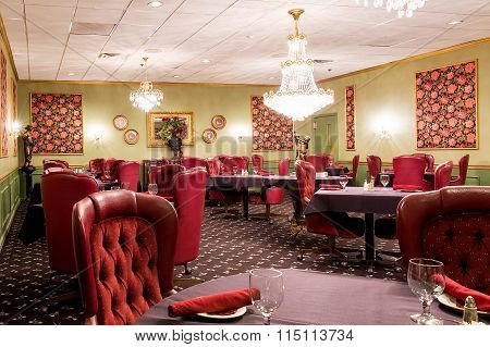 Fancy Upscale Hotel Dining Room Area