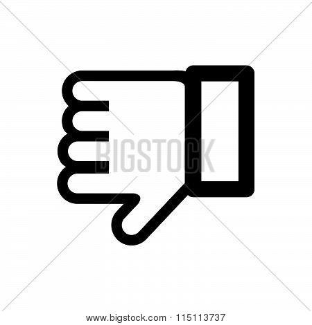 Hand Gesture Black Icon Vector