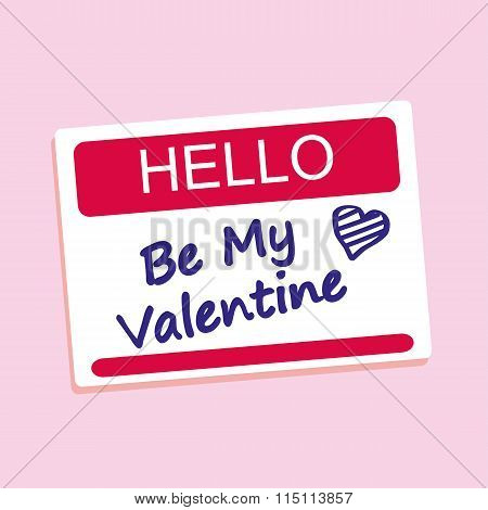 Be My Valentine Badge