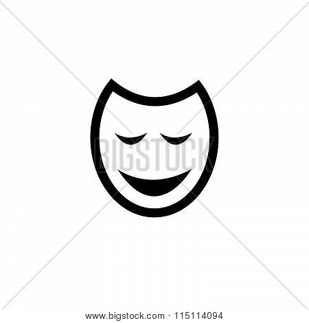 Traditional Venetian Carnival Mask Flat Icon