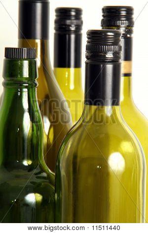 leere Flasche Wein.