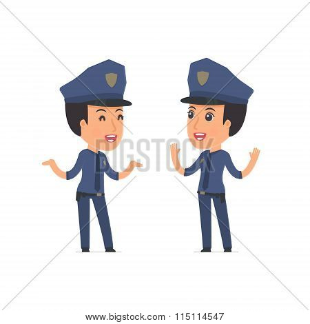 Funny Character Constabulary Tells Interesting Story To His Friend