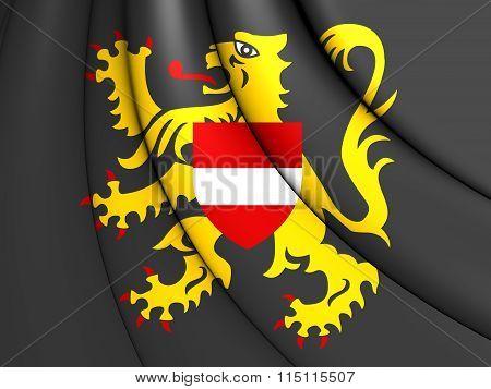 Flag Of Flemish Brabant, Belgium.
