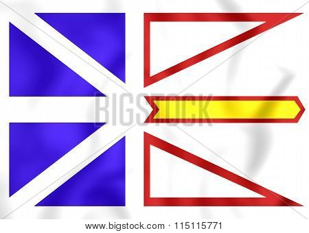 Flag Of Newfoundland And Labrador, Canada.