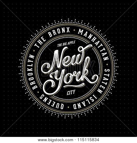 New York Lettering Stamp Black