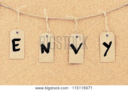 Vintage Grunge Tags With Word Envy