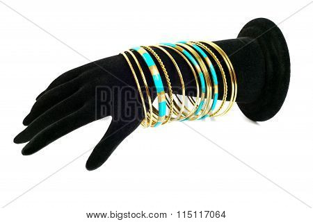 Bracelets on mannequin