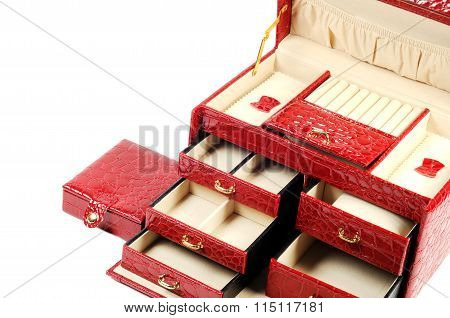 Red jewelry box