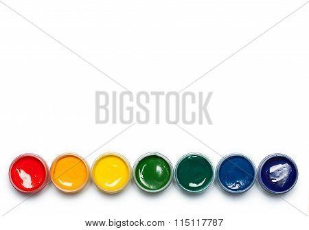 Rainbow gouache isolated