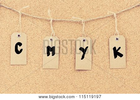 Vintage Grunge Tags With Word Cmyk