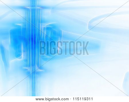 Abstract Digitally Generated Image Technology Background