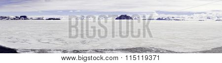 Panorama Gustaf Sound, Wheddle Sea, Antarctica