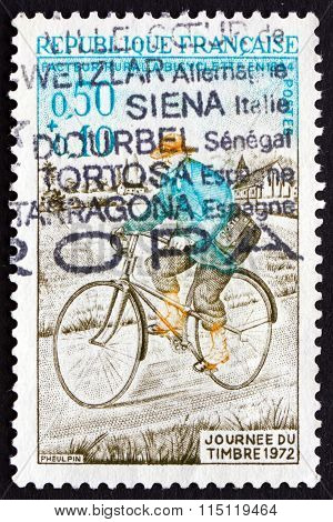 Postage Stamp France 1972 Rural Mailman
