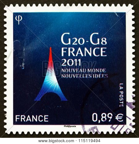 Postage Stamp France 2011 World Economic Summit