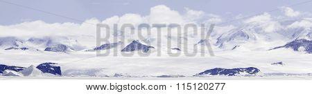 Panorama Gustaf Sound, Wheddle Sea, Antarctica