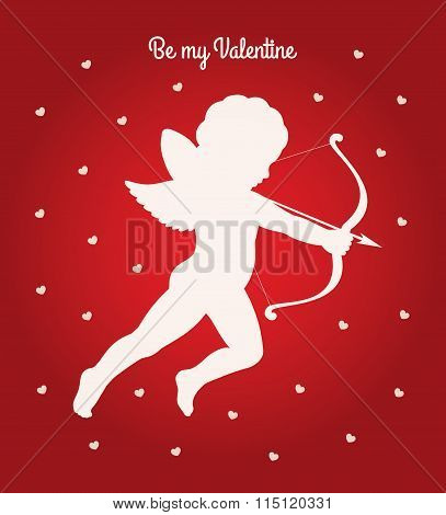 Cupid Be My Valentine Card