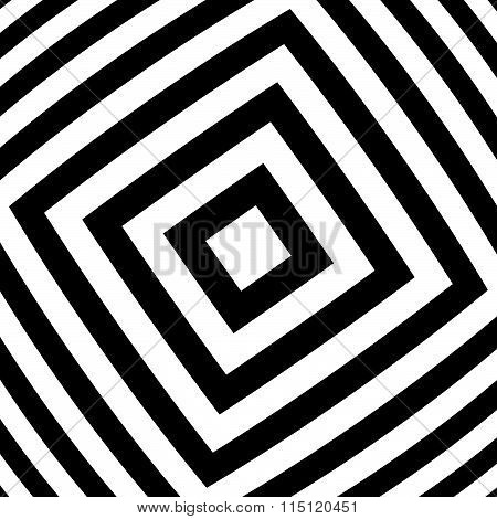 Alternating Black, White Squares With Distortion. Abstract Background.