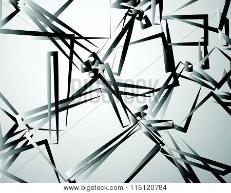 Abstract Texture, Pattern With Randomly Scattered Rectangular Shapes. Edgy, Angular Vector Art.