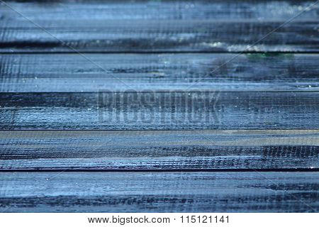 Texture From Dark Wooden Varnished Boards