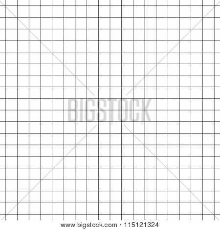Seamless Grid, Mesh Pattern. Millimeter, Graph Paper Background. Squared Texture. Repeatable