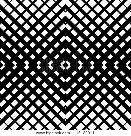 Abstract Grid Mesh Pattern With Intersecting Lines. Symmetric Cellular Repeatable, Seamless Pattern.