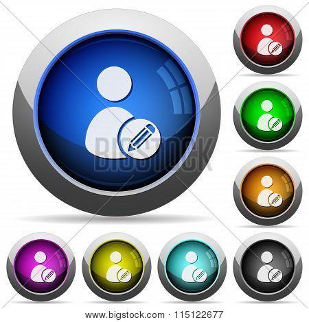 Edit User Profile Button Set