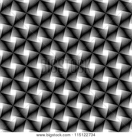 Abstract Grid, Mesh Background. Monochrome Reticulate Geometric, Grillage Pattern. Seamlessly Repeat