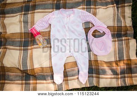 Newborn Baby Girl Clothes - Shot From Above