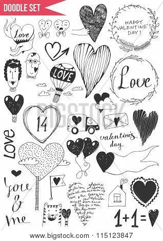 Set of doodles - Valentine's Day. Vol. 2