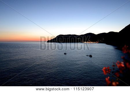 Sunset In Cinque Terre Italian Riviera