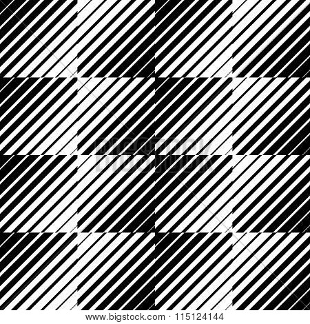 Pattern, Texture With Diagonal Straight Lines. Monochrome Background.