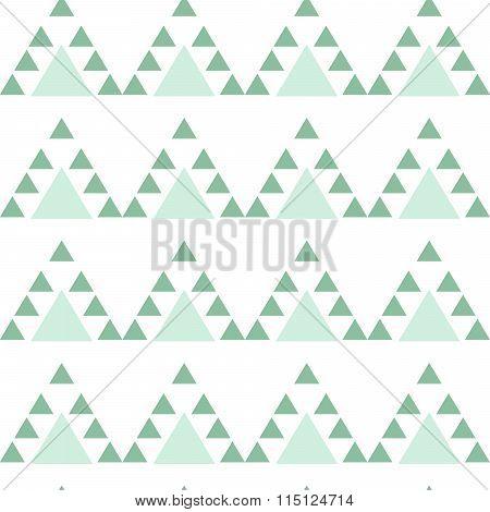 Mint blue triangle seamless pattern.