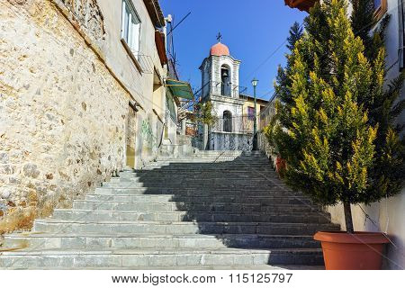 Stone orthodox church in old town of Xanthi, East Macedonia and Thrace