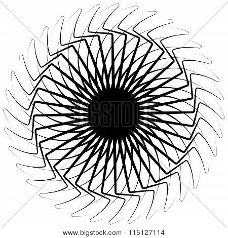 Abstract Spiral Pattern / Texture On White. Vector Art.
