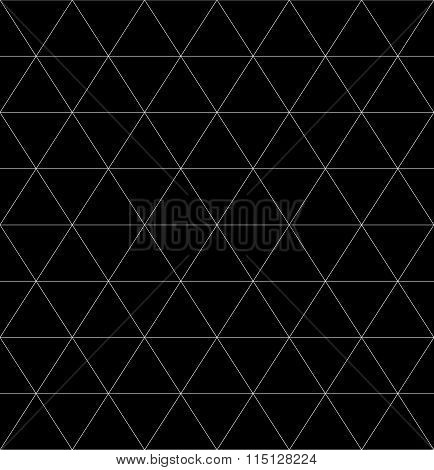 Seamless Monochrome Pattern With Triangles, Rhomb Or Octagon Shapes. Grid, Mesh Pattern. Abstract Ve