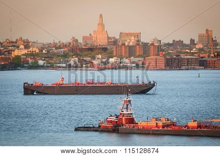 Tugboats In Upper New York Bay