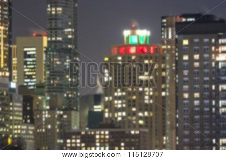 Blurry Skyscrapers Background