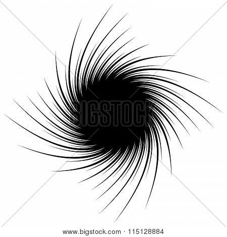 Abstract Spiral Shape With Pointed Spokes. Editable Vector Graphic.