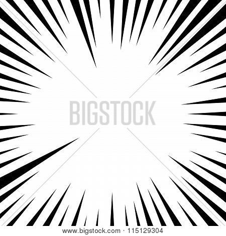 Abstract Rays, Beams Background. Pointed Radiating Lines.