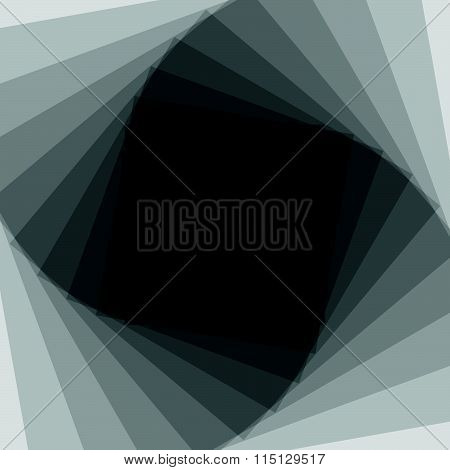 Abstract Spiral, Twirl Monochrome Background. Editable Vector.