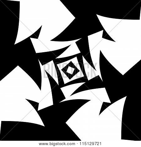 Abstract Black And White Background. Vector Art.