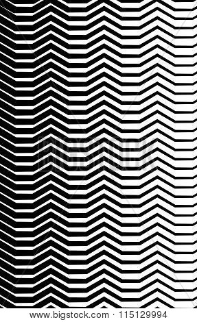 Weird Lines From Edge. Abstract Monochrome Vector Pattern.